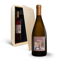 YourSurprise Wein Geschenkset - Salentein Primus Malbec & Chardonnay - eigenes Etikett