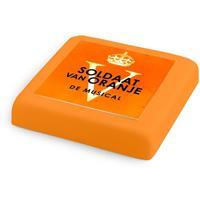 gefelicitaart Oranje Marsepein taart