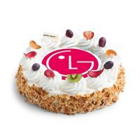 gefelicitaart Ronde Luxe Slagroomtaart