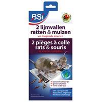 2 Lijmvallen Tegen Muizen&Ratten - Ratten lijmplanken - BSI