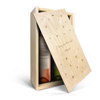 YourSurprise Wein Geschenkset - Oude Kaap Rosé & Weiß - Weinkiste mit Gravur