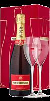 Champagner von Piper-Heidsieck Piper-Heidsieck Champagner Brut Geschenkset inkl. 2 Gläsern Champagne AOP