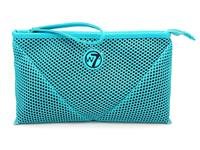 W7 Make-up/Toilettas - Large Mesh Bag Turquoise