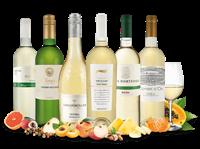 Verschiedene Probierpaket Glückliche Stunden mit Weißwein