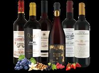 Verschiedene Kleines französisches Genuss-Rotwein-Paket