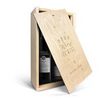 YourSurprise Luc Pirlet Merlot & Chardonnay - Weinkiste mit Gravur