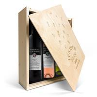 YourSurprise Luc Pirlet Sauvignon Blanc, Syrah & Merlot - Weinkiste mit Gravur