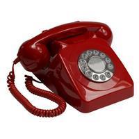 GPO 746PUSHRED Rotary telefoon met drukknop