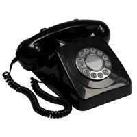 GPO 746PUSHBLA Rotary telefoon met drukknop