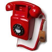 GPO 746WALLRED Rotary telefoon aan muur