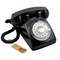 GPO 746 Draaischijf Retro Telefoon Zwart