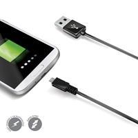 datakabel micro USB 200 cm zwart