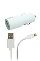 Azuri oplader Autolader Apple Lightning connector wit