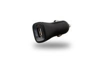 Azuri oplader Autolader 12V 1 x USB adapter 2,4Amp zwart
