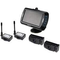 Draadloze achteruitrijcamera ProUser APR043x2 2 cameras, Extra IR-verlichting, Afstandshulplijnen, Automatische dag/nachtomschakeling, Diafragma F 2.0,