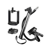 Selfiestick Mantona 20634 1/4 inch Zwart Voor smartphones en GoPro