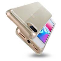For iPhone 8 Plus & 7 Plus PC Transparent Protective Back Cover Case(Transparent)