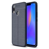 Slim-Fit Premium Huawei P Smart+ TPU Case - Donkerblauw