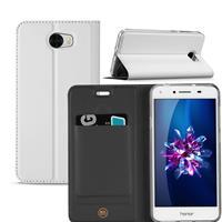Huawei Y5 2 | Y6 Compact Hoesje Wit met Opbergvakje