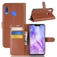 Huawei P Smart Plus Hoesje Bruin met Pasjeshouder
