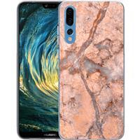 Huawei P20 Pro TPU Hoesje Marmer Oranje