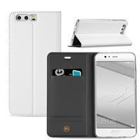 Huawei P10 Plus Hoesje Wit met Opbergvakje