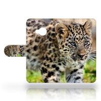 HTC U Play Uniek Design Hoesje Baby Luipaard