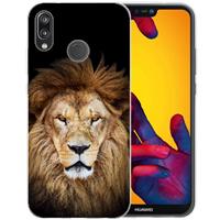 Huawei P20 Lite Uniek TPU Hoesje Leeuw