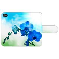 Apple iPhone 4/4S Uniek Ontworpen Boekhoesje Orchidee