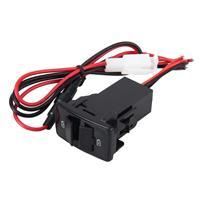 Twee Slots YCL-304 opladen Special Design USB-poort DC 12V U schijfgegevens ingang Dual USB lading stopcontact opladen van Smartphones voor Honda