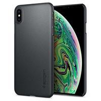 Spigen SGP Thin Fit Case voor iPhone XS Max - Graphite Grijs
