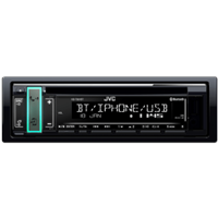jvc KD-T801BT Autoradio met witte toetsverlichting en Variable-Color Accent