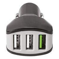 Universele autolader Charger Car 4.4A Turbo USB zwart.