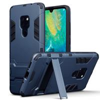 Double Armor Layer hoes met stand - Huawei Mate 20 - blauw