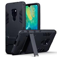Double Armor Layer hoes met stand - Huawei Mate 20 - zwart