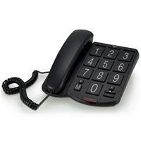 Profoon Huistelefoon met grote toetsen kunststof zwart TX-575