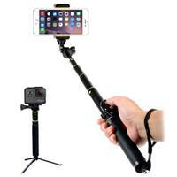Universele Uitschuifbare Selfie Stick & Bluetooth Camera Sluiter H611 - Zwart