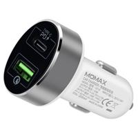 Momax UC10 Snelle Autolader - USB-C PD, QC3.0 - 36W - Wit