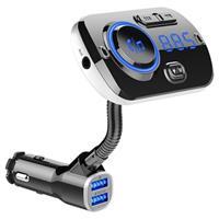 QC3.0 Autolader / Bluetooth FM Transmitter met RGB BC49AQ - Zwart