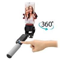 Smart 360-Graden Rotatie Draadloze Selfie Stick - Zwart