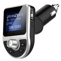 Dubbele USB-autolader & Bluetooth FM Transmitter BT39 - Zwart