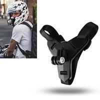 Helm riem steun voor  HERO8 zwart/7/6/5/5 sessie/4 sessie/4/3 +/3/2/1 Xiaoyi en andere Actiecamera's (zwart)