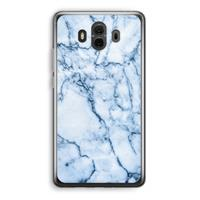 Mate 10 Transparant Hoesje (Soft) - Blauw marmer