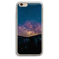 iPhone 6 Plus / 6S Plus Transparant Hoesje (Soft) - Travel to space