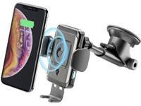 cellularline PILOTINSTWIRK Zuignap Telefoonhouder voor in de auto Met inductielader