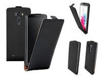 Leren flip case telefoonhoesje voor  G3 zwart