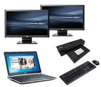 "dell Latitude E6230 - Intel Core i5 - 4GB - 320GB HDD + Docking + Dual 2x 23"" Widescreen Full HD Monitor"