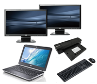 "dell Latitude E5430 - Intel Core i5 - 4GB - 500GB HDD + Docking + Dual 2x 23"" Widescreen Full HD Monitor"