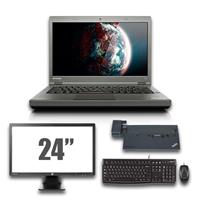 "lenovo Thinkpad T440p - Intel Core i5 - 8GB - 320GB HDD + Docking + 24"" Widescreen Monitor"