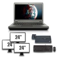 "lenovo Thinkpad T440p - Intel Core i5 - 8GB - 320GB HDD + Docking + Dual 3x 24"" Widescreen Monitor"